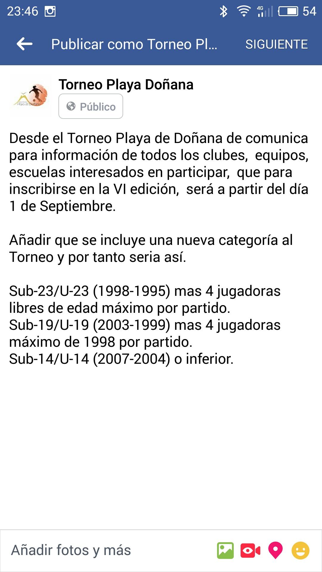 VI Edición  Torneo Playa deDoñana